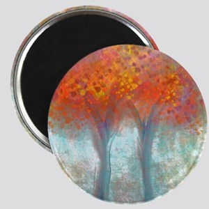 Dazzling Trees in Reds and Orange Magnet