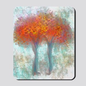 Dazzling Trees in Reds and Orange Mousepad