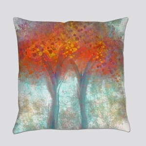 Dazzling Trees in Reds and Orange Everyday Pillow