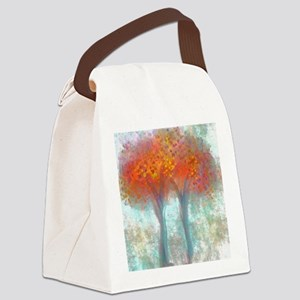 Dazzling Trees in Reds and Orange Canvas Lunch Bag