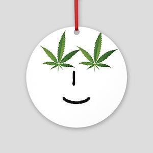Pot Head Emote Ornament (Round)