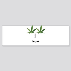 Pot Head Emote Bumper Sticker