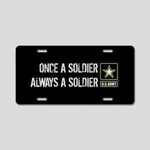 U.S. Army: Once a Soldier A Aluminum License Plate