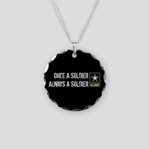 U.S. Army: Once a Soldier Al Necklace Circle Charm