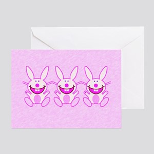 3 Bunnies Card Greeting Cards
