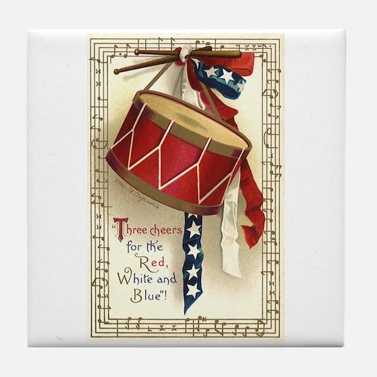 Vintage 4th of July Tile Coaster