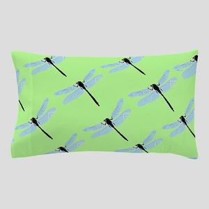 Green Dragonfly Pillow Case