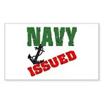 Navy Issued Rectangle Sticker