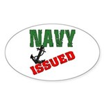 Navy Issued Oval Sticker