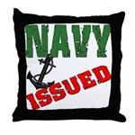 Navy Issued  Throw Pillow