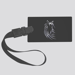 Silver Horse Large Luggage Tag