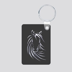 Silver Horse Keychains