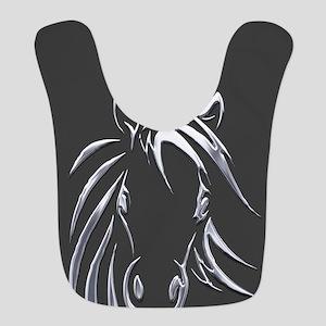 Silver Horse Bib
