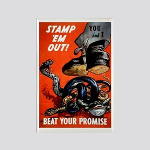 Stamp Out Snakes Rectangle Magnet