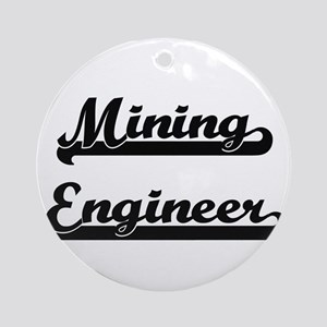 Mining Engineer Artistic Job Desi Ornament (Round)