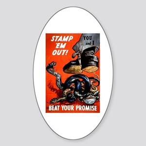 Stamp Out Snakes Oval Sticker
