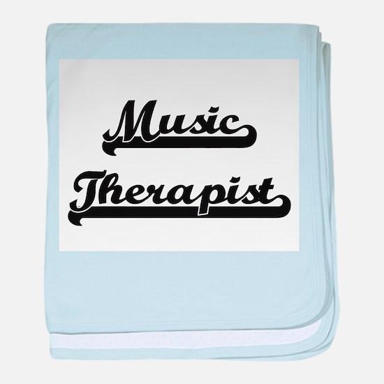 Music Therapist Artistic Job Design baby blanket