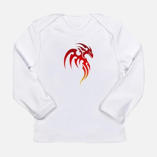 Rising Phoenix Tribal Symbol Long Sleeve T-Shirt
