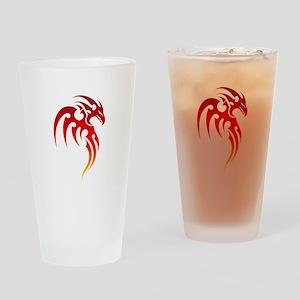 Rising Phoenix Tribal Symbol Drinking Glass