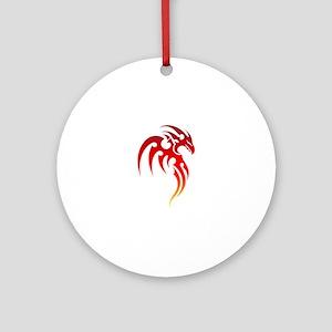 Rising Phoenix Tribal Symbol Ornament (Round)