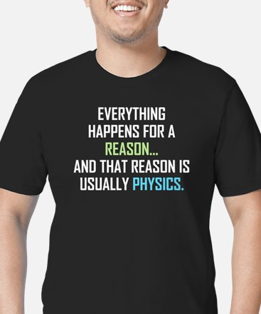 Everything Happens For Men's Fitted T-Shirt (dark)