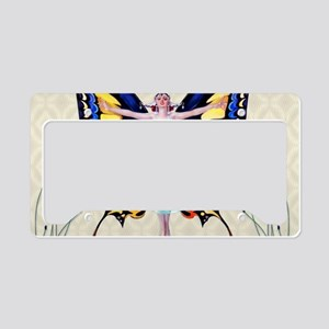 Art Deco Sensual B'fly Flappe License Plate Holder