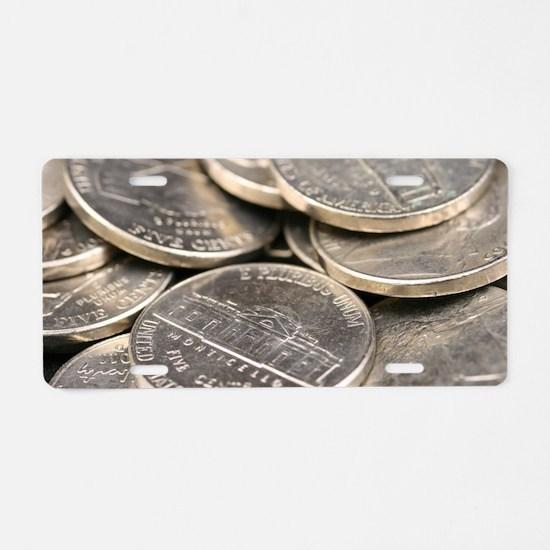 Cute Coin Aluminum License Plate