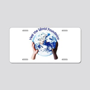 HEAL THE WORLD FOUNDATION Aluminum License Plate