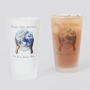 HEAL THE WORLD Drinking Glass