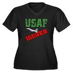 USAF Issued Women's Plus Size V-Neck Dark T-Shirt