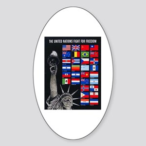 United Nations Freedom Oval Sticker