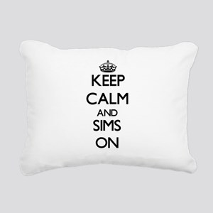 Keep Calm and Sims ON Rectangular Canvas Pillow