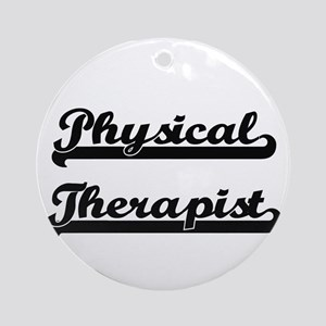 Physical Therapist Artistic Job D Ornament (Round)
