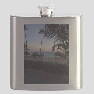 Punta Cana Beach at Sunset Flask