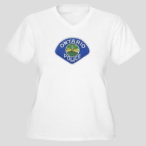 Ontario Police Women's Plus Size V-Neck T-Shirt