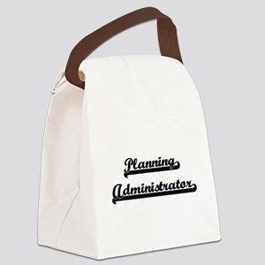 Planning Administrator Artistic J Canvas Lunch Bag