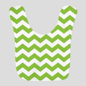 Lime Green Chevron Bib
