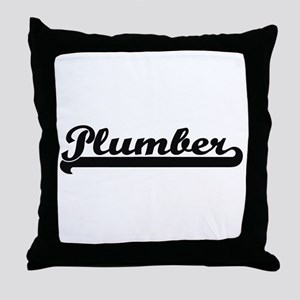 Plumber Artistic Job Design Throw Pillow