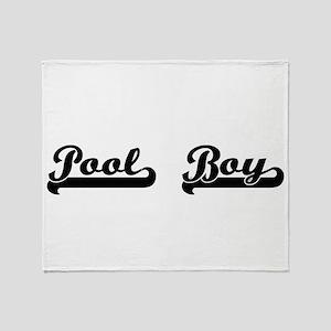 Pool Boy Artistic Job Design Throw Blanket