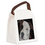 Pitbull Pup Canvas Lunch Bag