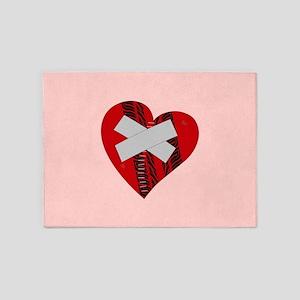 BROKEN HEART 5'x7'Area Rug