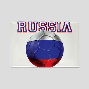 Russian Football Rectangle Magnet