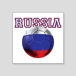 "Russian Football Square Sticker 3"" x 3"""