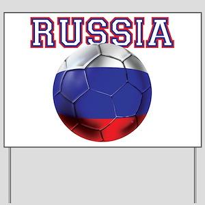 Russian Football Yard Sign