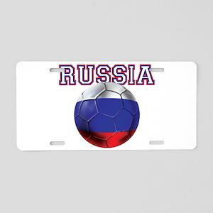 Russian Football Aluminum License Plate