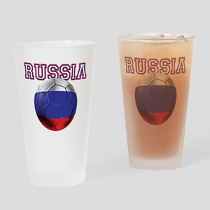 Russian Football Drinking Glass