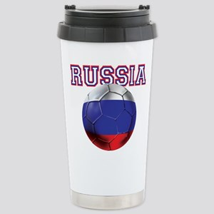 Russian Football Stainless Steel Travel Mug