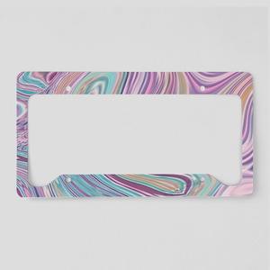 girly cotton candy swirls License Plate Holder