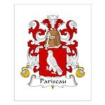 Pariseau Family Crest Small Poster