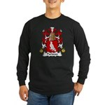 Pariseau Family Crest Long Sleeve Dark T-Shirt